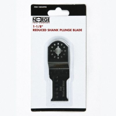 "1-1/8"" Reduced Shank Plunge Blade"